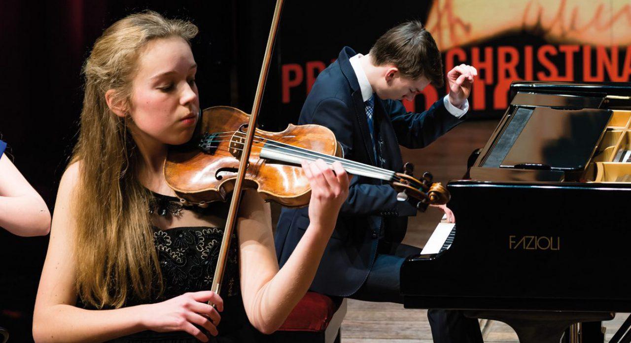 Winnaars Prinses Christina Concours Noord Eline de Vries – viool (1999) en Kees Christiaan Kruit – piano (1999)
